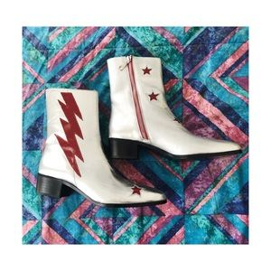 Modern Vice (Bowie) Bolt booties inspired by Bowie